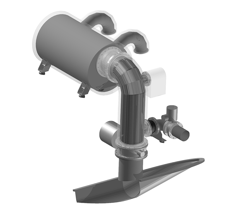 Main Propulsion Engine by MarQuip, Exclusive yacht exhausts